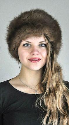 Cappello in zibellino naturale  www.amifur.it