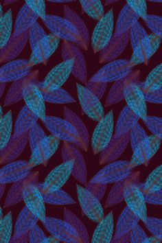 """Bleu Papeon"" by Michael Edgerley. To have a colourlovers pattern printed on…"