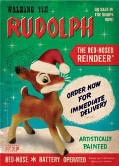 Vintage ad - Rudolph the Red Nosed Reindeer, battery operated display Christmas Graphics, Retro Christmas, Christmas Images, All Things Christmas, Christmas Toys, Christmas Goodies, Christmas Ornament, Rudolph Red Nosed Reindeer, Rudolph The Red
