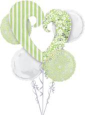 Honeydew Heart Balloon Bouquet - Party City