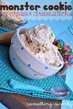 Monster Cookie Dough Ice Cream & Drumsticks - Something Swanky