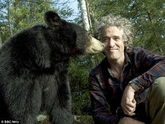 Give us a kiss: Working alongside Lynn Rogers, Gordon overcame his fear of bears Sloth Bear, Panda Bear, Polar Bear, Moon Bear, Film World, Stunning Photography, Black Bear, Natural World, North America