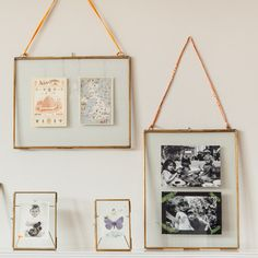 Glass Display Frames - Brass love these