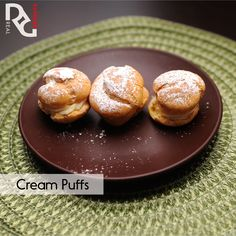 Erin's Cream Puffs 1 cup water        Pinch of salt  1 stick of butter       1¼ cup bread flour (or all purpose flour) 6 eggs  Full Instructions on