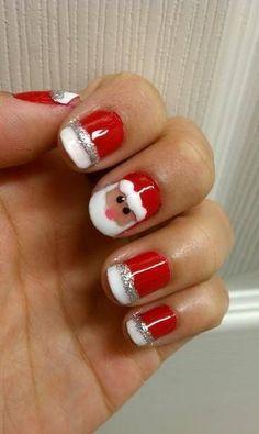 Nail art- Santa