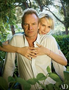 For Sting and Trudie Styler, landscape designer Arabella Lennox-Boyd planted a heavenly garden near Florence, Italy. Source: Architectural Digest #Agraria  #rosemary #lavender http://www.agrariahome.com/lavender-and-rosemary-luxury-bath-bar/