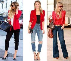 abbinare giacca rossa donna