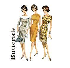 Vintage 60s Misses Princess Sheath Dress Butterick by scarlettess