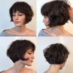 Chic Short Hair, Short Hair Cuts, Shot Hair Styles, Curly Hair Styles, Up Hairstyles, Pretty Hairstyles, Hair Evolution, Corte Bob, Hair Essentials