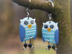 Check out this item in my Etsy shop https://www.etsy.com/listing/226465491/owl-earrings-handpainted-stainless-steel