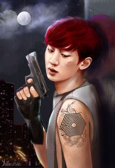 Chanyeol fanart~ so cool o.o