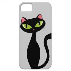 Created By JunkyDotCom: Black Cat iPhone 5 Case #cat #iphone #pets