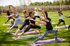 Stretch & Swirl: Traversing the Yoga Wine Trail Yoga meets wine tastings at these unique events throughout the state.   Photo by Yvonne Albinowski