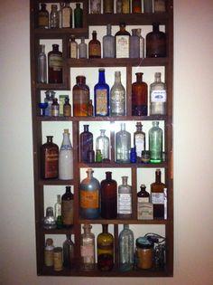 antique medicine bottle collection