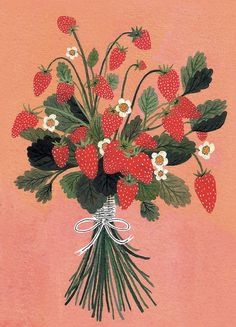 strawberries by beccastadtlander on Etsy, $22.00