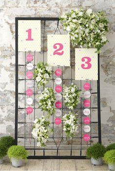 White flower table plan idea