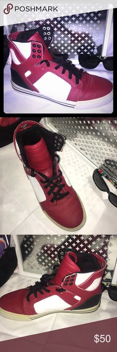 d0eacb261465 SUPRA High Top Muska 001 Shoes Good used condition SUPRA high top athletic  shoes. Some