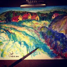 Mountain landscape : watercolour art by mrkookky