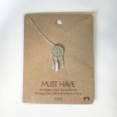 Dream catcher necklace Silver dream catcher necklace. Brand new. Small necklace Jewelry Necklaces