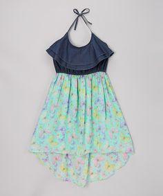 Take a look at the Dollhouse Aqua Butterfly Dress - Girls on #zulily today!