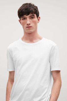 COS image 51 of Round-neck t-shirt in White