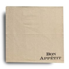 Harman Bon Appetit Cotton Napkin - Set of 6 (Natural) available for sale at the best price at Kitchen Stuff Plus your Napkins & Tissues store. Cotton Napkins, Napkins Set, Bon Appetit, Tablecloths, Table Top Covers, Table Covers