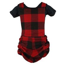 #Metallimonsters red check romper #punkbaby #alternativebabyclothes