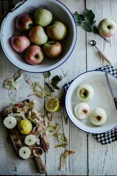 Local Milk | salted caramel apple dumplings with dried cherries & hazelnuts