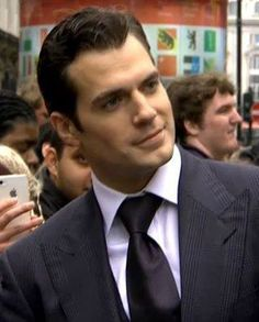 Henry Cavill at London's Man of Steel premiere on June 12, 2013.