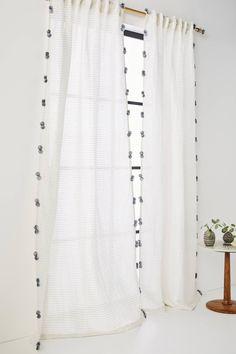 Pom Tassel Curtain | Anthropologie