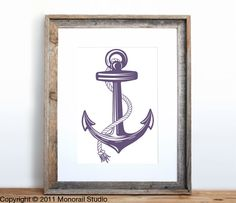 Anchor Poster Small Screenprint Choose your color. $12.00, via Etsy.