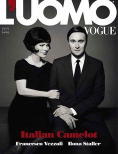 Francesco Vezzoli & Ilona Staller para L'Uomo Vogue Italia