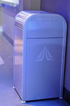 Cool blue literally sets the tone on the Star Tours trash cans at Tokyo Disneyland.