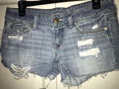 e9d1460d5bd American Eagle Distressed Jean Shorts Size 4 #fashion #clothing #shoes  #accessories #