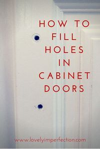 Are you replacing your cabinet hardware? Here's a handy tip to help you fill in those holes in your cabinet doors