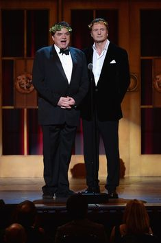 Liam Neeson Photos - Oliver Platt (L) and Liam Neeson performs onstage at The Annual Tony Awards at Radio City Music Hall on June 2013 in New York City. - 2013 Tony Awards - Show Liam Neeson, Oliver Platt, Cinema, Radio City Music Hall, New York City, Awards, June, Actors, Photos