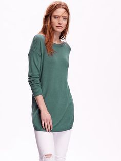 Curved-Hem Pullover Sweater Product Image large no red or pink