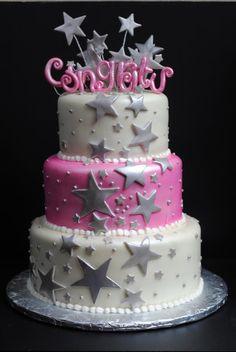 star cake. Love stars!!!!!