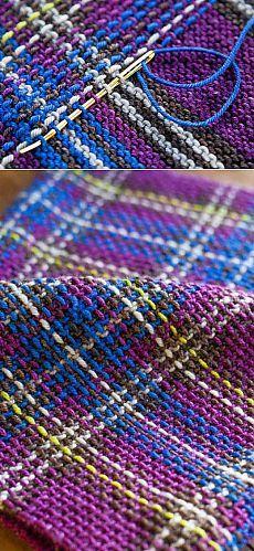 Узоры для вязания спицами с вышивкой