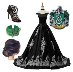 """Slytherin Yule Ball"" by fashion-scarlet ❤ liked on Polyvore featuring Reception, Pour La Victoire, Latelita and Miss Selfridge"