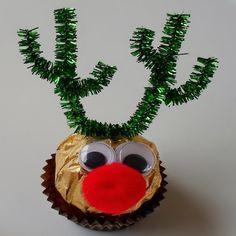 Ferrero Rocher Reindeer Great for a kid's party favor.