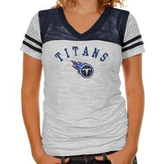 Touch by Alyssa Milano Seattle Seahawks Ladies The Coop Football Premium  Burnout V-Neck T-Shirt - White-Navy Blue e02fc403f