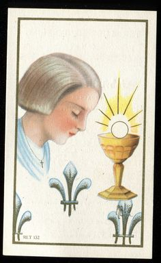 """Vintage ST JOAN OF ARC HOLY CARD """"VISIT MY STORE """""""