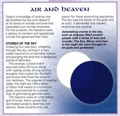 Air and Heaven