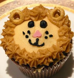 Lion King birthday party cupcake