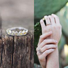 Sun crown ring (cognac diamonds) by Edel Designer Jewellery