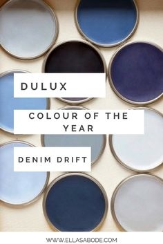 Dulux Colour of the Year 2017 - Denim Drift. Grey Blue color of the year. Colour trendnprediction for Boys Bedroom Colors, Blue Gray Bedroom, Bedroom Ideas, Dulux Paint Colours, Wall Colours, Denim Drift Bedroom, Interior Wall Colors, Interior Design, Dinosaur Bedroom