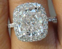 4 carat cushion cut ring...10 year anniversary present??..I think so!