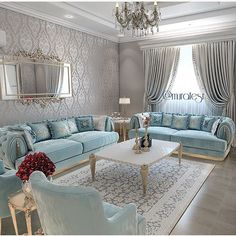Stunning Ideas To Decorate Stylish Living Room Living Room Colors, Living Room Designs, Living Room Decor, Decor Room, Home Decor, Muebles Shabby Chic, Luxury Living, House Design, Interior Design