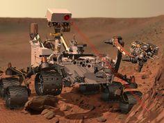 Curiosity sends color photos of Mars.  Google Image Result for http://img.ibtimes.com/www/data/images/full/2012/08/06/293801-curiosity-tweet-one.jpg